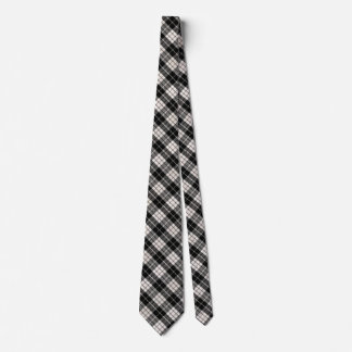 Cor customizável da xadrez preto e branco gravata