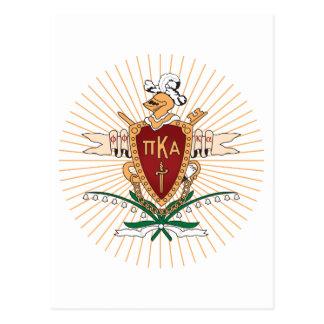 Cor da crista de PKA Cartão Postal