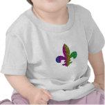 Cor da flor de lis da faísca do brilho a multi adi tshirts