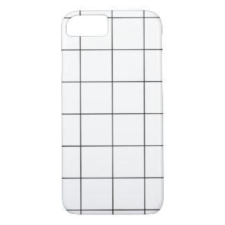 Cor da grade de PixDezines/monochrome/DIY Capa iPhone 7