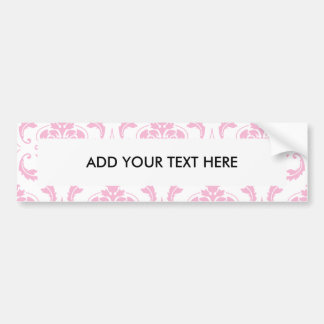 Cor damasco branca cor-de-rosa feminino do vintage adesivo para carro