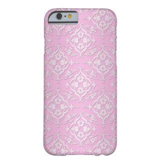 Cor damasco floral feminino doce no rosa capa barely there para iPhone 6