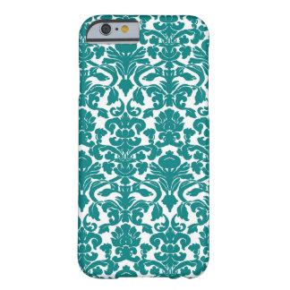 Cor damasco floral ornamentado da cerceta capa barely there para iPhone 6