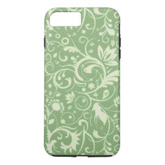 Cor damasco floral verde capa iPhone 7 plus