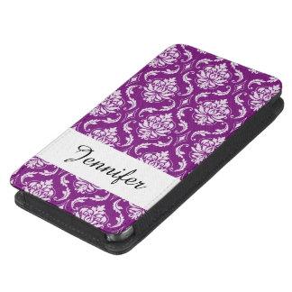 Cor damasco roxa feminino bolsa para celular