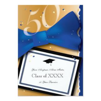 Cor de acento de 50 azuis marinhos da reunião de convite 12.7 x 17.78cm