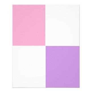 Cor-de-rosa AJUSTÁVEL, branco & insecto da lavanda Panfletos Personalizados