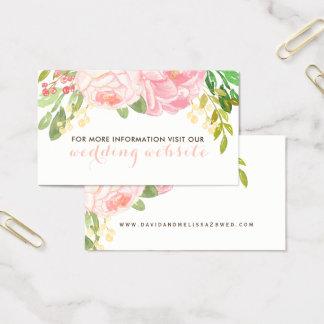 Cor-de-rosa bonito e coram cartões do Web site das