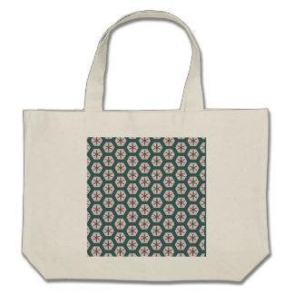 Cor-de-rosa da arte geométrica e verde empoeirados bolsa para compras