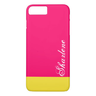 Cor-de-rosa e amarelo bonito capa iPhone 7 plus
