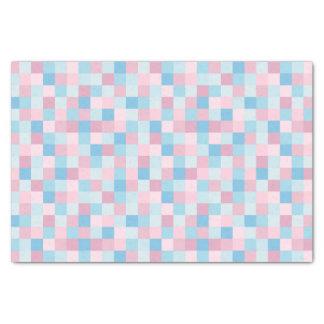 Cor-de-rosa e azul esquadra o lenço de papel