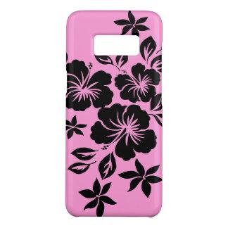 Cor-de-rosa floral do hibiscus de Lilikoi e preto Capa Case-Mate Samsung Galaxy S8