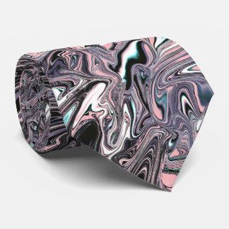 Cor-de-rosa, preto, o lilac marmoreou a gravata do