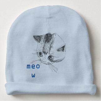 Cor do azul do Meow do desenho do gato do Beanie Gorro Para Bebê