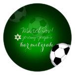 Cor do bar Mitzvah/DIY do futebol de PixDezines Convite Quadrado 13.35 X 13.35cm