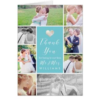 Cor do obrigado You/DIY das fotos do casamento de Cartão Comemorativo