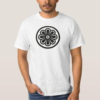 Cor do preto da flor do Hippie Camiseta