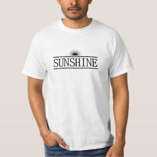 Cor do preto do Hippie da luz do sol Camiseta