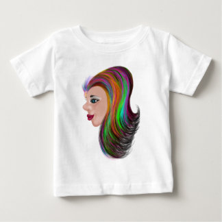 Cor do salão de beleza camiseta para bebê
