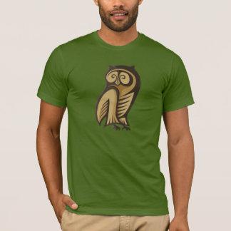 Cor do símbolo da coruja camiseta