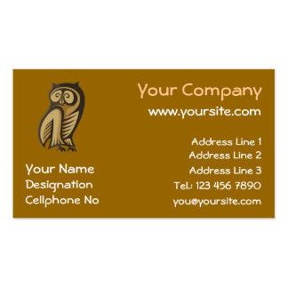 Cor do símbolo da coruja cartões de visita