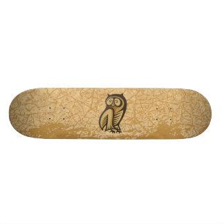 Cor do símbolo da coruja skateboard