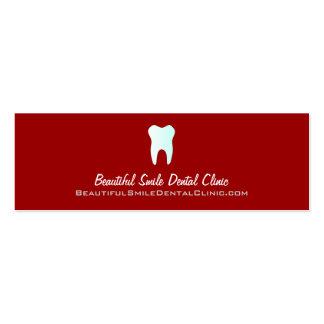 Cor dos cartões da nomeação do dentista variável cartão de visita skinny