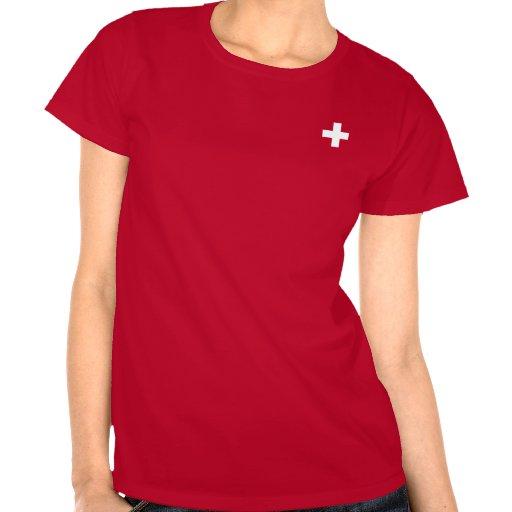 Cor editável do fundo, a bandeira da suiça tshirts