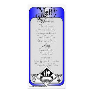 Cor elegante 13 do cartão do menu 10.16 x 22.86cm panfleto