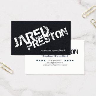 Cor feita sob encomenda minimalista do modelo do cartão de visitas