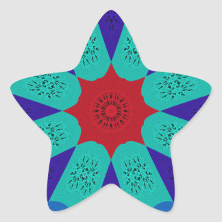 Cor feminino egípcia surpreendente bonita do adesivo estrela