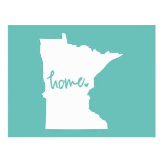 Cor Home do costume de Minnesota Cartão Postal