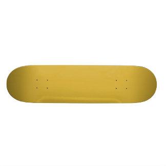 Cor metálica vazia do ouro você projeta 7 3/4 de shape de skate 18,4cm