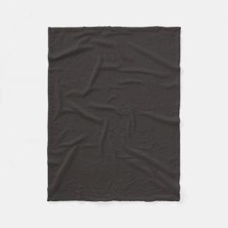 Cor preta principal considerável cobertor de lã
