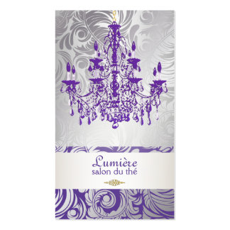 Cor roxa da lavanda chandelier/DIY de PixDezines Modelo Cartões De Visitas