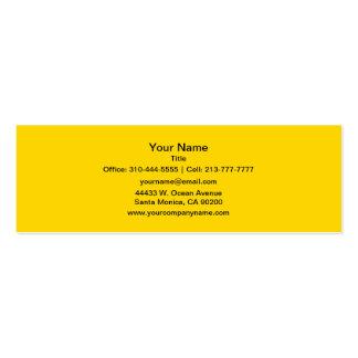 Cor sólida amarela do auto escolar cartão de visita skinny