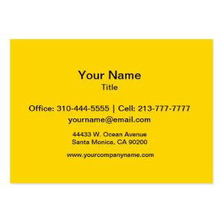 Cor sólida amarela do auto escolar cartão de visita grande