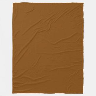 Cor sólida castanho chocolate cobertor de lã