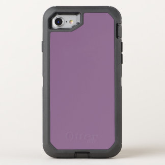 Cor sólida da ameixa capa para iPhone 7 OtterBox defender