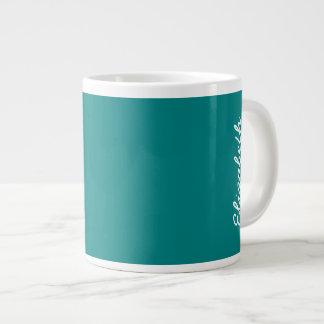 Cor sólida da cerceta caneca de café grande