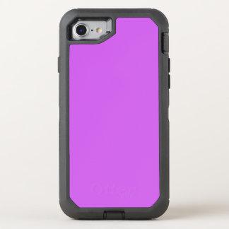 Cor sólida média da orquídea capa para iPhone 7 OtterBox defender