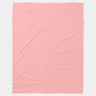 Cor sólida Pastel cor-de-rosa Cobertor De Lã
