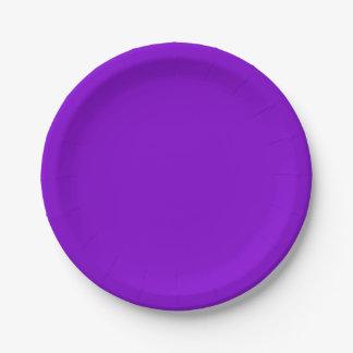 Cor sólida simplesmente roxa prato de papel