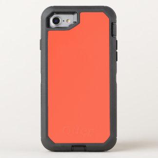 Cor sólida vermelha do tomate ele capa para iPhone 7 OtterBox defender