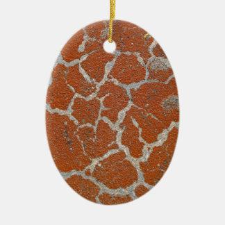 Cor velha de russet no concreto ornamento de cerâmica oval