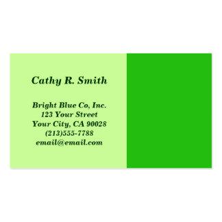cor verde cartão de visita