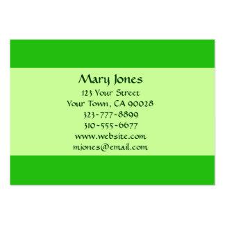 cor verde cartão de visita grande