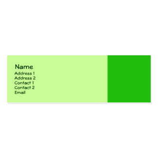 cor verde cartão de visita skinny