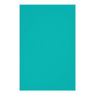Cor vibrante do pavão de turquesa pronta para flyer 13.97 x 21.59cm