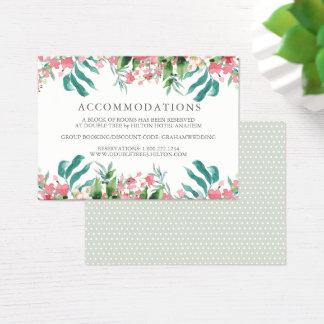 Cora cartão da informação do casamento da aguarela